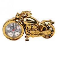 antique motorbike - New Style Golden Motorcycle Digital Alarm Clock Desk Clock Motorbike OL Gift Clock Plastic