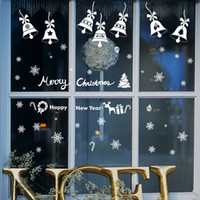 bell decals - Remoavble Happy New Year Merry Christmas Bell snowflakes Vinyl wall sticker Decals Window kids room decor decoration