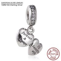 dangle charms - Mother s Day My Beautiful Wife Charm Beads Fits definew Bracelets Authentic Sterling Silver Dangle Heart Bead Diy Jewelry
