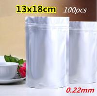 Wholesale 13x18cm x7 inch Reclosable Zipper Bag Aluminium Foil Ziplock Bag Self Sealed Plastic Ziplock pouch