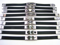 Wholesale Brand New Mixed Various Styles Men s Boy s Rubber Stainless Steel Bracelets Job