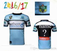 Wholesale best Thai quality Cronulla Sharks rugby jerseys Zealand NRL Australia league rugby jerseys shirts Size S XXXL Free Custom