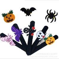 Wholesale Brand New halloween festival party supplies decorative pat Circle Bracelet pumpkin ring pops for