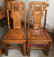african carved furniture - Kitchen dinner furniture Animal elephant carving home chairs African Red sandalwood wood chairs dinner chairs in natural lacquer craft