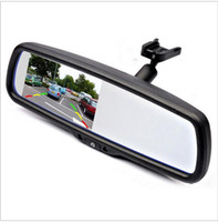 Wholesale 4 quot TFT LCD Car Parking Rearview Mirror Monitor With Special Bracket For VW Audi Ford Toyota Nissan Mazda Hyundai Kia Honda