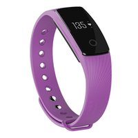 Wholesale ID107 Bluetooth Smart Bracelet Band Heart Rate Monitor Wristband Fitness Tracker for Android iOS