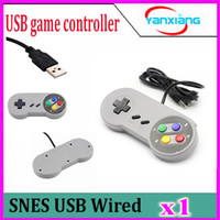 Wholesale 1PCS retail Classic Gaming USB Controller Gamepad Game Pad for Nintendo NES Windows PC Mac high quality ZY PS3