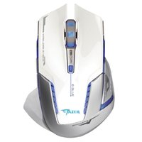 Wholesale EMS601WHAA Mazer II DPI Blue LED GHz Optical Wireless Gaming Mouse White