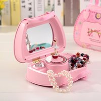 ballerina jewelry boxes - New Take the mirror bag modelling music box Multi functional jewelry Caixinha De Musica Jewelry Box Diy Music Ballerina