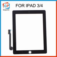 Wholesale Original Quality Black White Replacement For Apple iPad iPad Touch Screen Digitizer Without IC Front Glass