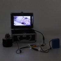 Wholesale Eyoyo Original M TVL Fish Finder Underwater Fishing quot Video Camera Monitor AntiSunshine Shielf Sunvisor Infrared IR LED