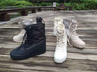 alligator motorcycle boots - Hot Sale Kanye West shoes boost boots men women shoes High shoes duck Boot eur