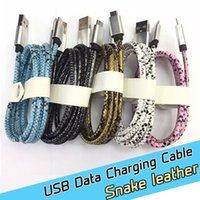 Precio de Snake skin-Micro USB cable cargador 2.0 de alta velocidad de sincronización y carga del cable con revestimiento de PU de cuero, 1 m / 3,3 pies (piel de serpiente)