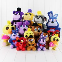 Wholesale 8 style cm Plush Five Nights At freddys Bear Fox Rabbit Stuffed Animals figure toy dolls