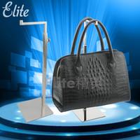 Wholesale Elite Metal Adjustable Handbag Display Rack Stand Clutch Bag Hanger For Fashion Stores Fixtures BR003P
