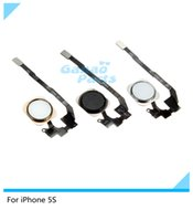 Wholesale 10pcs NEW Home Button Flex Ribbon Cable Assembly For iPhone S black Silver gold Repair part