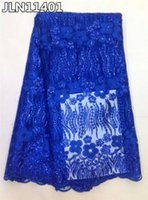 africa textiles - 5 yards Most popular france net lace fabric guangzhou textile africa tulle lace JLN114