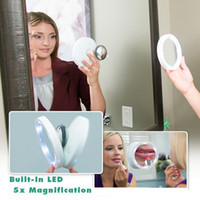led light magnifying mirror - Magnifying Makeup Mirror Swivel Brite Makeup LED Lighted Edge X Magnification Lighted Magnetic Mirror Pivoting Action LJJG374