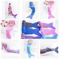 adult twin costumes - Adult Mermaid Tail Blankets mermaid Sleeping bags soft sofa blanket Bed Blanket Warmer Cocoon Fancy Costume cm design LJJK552