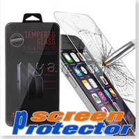 Wholesale For iPhone S plus Tempered Glass screen Protector Tempered Glass with retail package For Samsung galaxy S7 S6 S5 Note Iphone S S