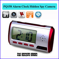 Wholesale 8GB memory Built in Digital Alarm Clock Hidden Pinhole Camera with Remote Control Alarm Clock Invisible Security hidden Cameras