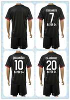 bender shirts - Fast Uniforms Kit Bayer Leverkusen Hernandez Bender Calhanoglu Kiessling Black Away Soccer Jersey full shirt