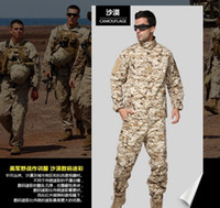 Wholesale US Army Blue Navy Desert Digital Uniform paintball suit set hunting combat camouflage uniform tactical military army suit