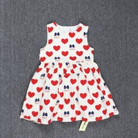 Wholesale Childrens Korean Style Clothing Summer Baby Girls Fashion Falbala Sweet Floral Princess Kids Pretty cartoon Dress