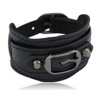 al por mayor pulsera antigua del cinturón-2016 antiguo del metal de la nueva manera ancha correa de cuero de la hebilla de la pulsera de joyería de las mujeres 6 colores el envío libre