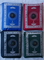Wholesale Brand New POCKET PORTABLE MUSLIM PRAYER MAT COMPASS ATTACHED QIBLA WEIGHTED ENDS