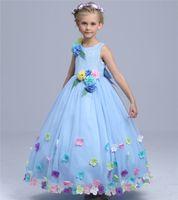 beautiful gift images - 2016 New Cute Beautiful Grey Gray Princess Dresses Tiers Tulle Skirt Flower Girls Dresses Fairy Toddler Full Length Children Festivals Gift