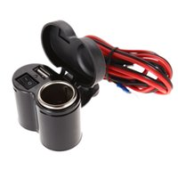 Wholesale 12 V Motorcycle Scooter Handlebar USB Charger Clamp Waterproof USB Cigarette Light ME3L