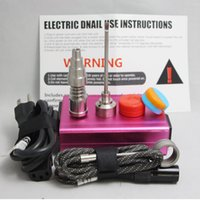electric water heater - 220V V dab e nail kit Electric temperature controller box DNail Dab with Ti nail digital Hnail coil heater Glass Bong Water Piper