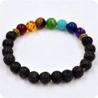 best food cooler - Cool Man Lava Rock Beaded Stretch Bracelets Mala Energy Bracelet Fashion Jewelry Best Gift