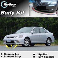 Wholesale For Acura EL Bumper Lip Lips Front Skirt Deflector Spoiler For Car Tuning The Stig Recommend Body Kit Strip