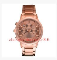 Cheap Hot Selling Free Shipping Wholesale-New AR2452 luxury New Quartz Chronograph mens women Watch Japan Movement + 2 year warranty