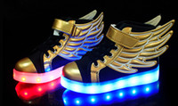athletic works sneakers - Baby Shoes Kids LED Wing Sneakers shoes Boys Girls Stylish LED Light Luminous Children Sports Athletic Shoes New Style Works By Battery