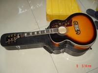 Venta caliente a estrenar Sunburst SJ200 VS Guitarra 6 cuerdas Guitarras eléctricas acústicas con Fishman