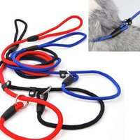 big dog leashes - 5PCS New design Pet chain harness Nylon woven retractable dog leash lead relection night for all small medium large big dog
