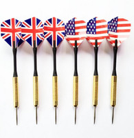 Wholesale Hot sale High quality Electroplate Copper Steel Needle Tip Dart Darts Steel Needle streamline Tip dart with flag
