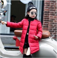 Wholesale 2016 Children Winter Wear Jacket Baby Girl Down Coat Long Style Kids Parkas Outdoor Outerwear For Girls Warm Wadded Coat Clothes