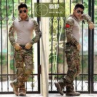 Wholesale Tactical Camouflage Military Uniform Clothes Suit Men US Army Multicam Hunting Militar Combat Shirt Cargo Pants Knee Pads