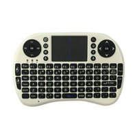 Wholesale New Mini Wireless Keyboard GHz English Air Mouse Keyboard Remote Control Touchpad For Android TV Box Notebook Tablet Pc