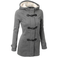 Wholesale Women Trench Coat Spring Autumn Women s Overcoat Female Long Hooded Coat Zipper Horn Button Outwear