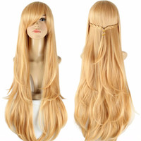 asuna sword - sword art online cosplay wig heat resistant synthetic wigs with bangs straight asuna yuuki braid wig long anime wigs for womens cm