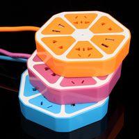 Wholesale GB Plug Type Socket Charger Ports USB Universal for most UK US Plug Lemon Fruit A V Desktop Smart Safety Charging Socket