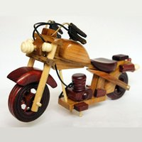 antique motorcycle toys - Handmade wooden motorcycle Wooden toys Wooden Cars Toys Kids Model Cars DIY motorcycle decoration Box Packing