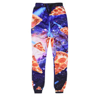 brand clothes cheap - 2016 Men Women Pants Purple Pizza Sweatpants Hip Hop Pocket Famous Brand Harajuku d Print Cheap Clothing China Baggy Jogging