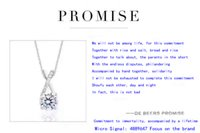 Wholesale Simple Love PROMISE Necklace Sterling Silver on Layer Platinum Plated Love Promise Necklace ON2017