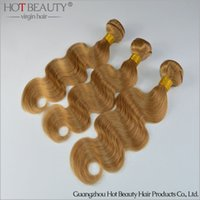 Cheap 2016 Color 27# Brazilian colorful hair Body wave,Human Hair extension 3pcs lot Hot Beauty Ombre Hair